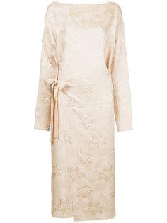 жаккардовое платье с запахом Ms Min