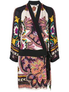 платье с запахом и цветочным принтом  Etro