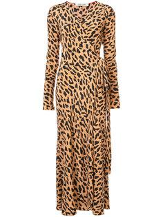 платье с запахом и леопардовым узором Dvf Diane Von Furstenberg