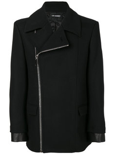 пальто со смещенной молнией Les Hommes