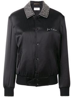 куртка-бомбер с медведем  Saint Laurent
