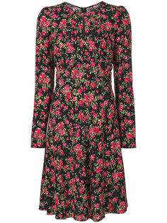 платье с принтом с розами Dolce & Gabbana
