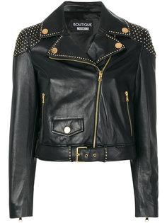 байкерская куртка с заклепками Boutique Moschino