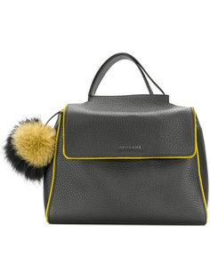 сумка-тоут с мягкой подкладкой и помпоном Orciani
