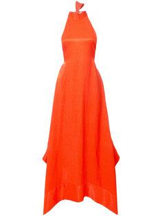вечернее платье с вырезом-петлей халтер Solace London