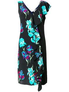 платье с бахромой и цветочным принтом  Dvf Diane Von Furstenberg