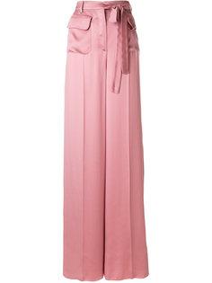 брюки-палаццо с поясом Valentino