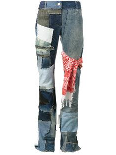 джинсы клеш в стиле пэчворк  Ronald Van Der Kemp