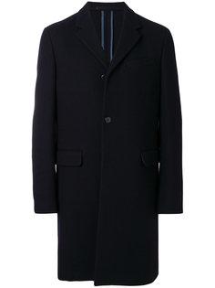 классическое однобортное пальто Prada