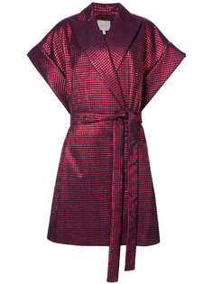 пальто с поясом и короткими рукавами Delpozo