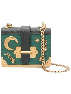 мини-сумка Cahier с декоративной луной и звездами Prada