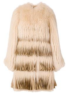 пальто с плиссированным подолом Givenchy