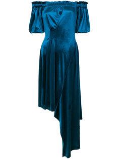 бархатное платье Courtney Preen By Thornton Bregazzi