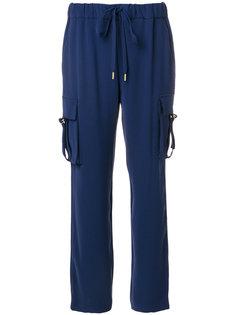 брюки с карманами и шнуровкой на талии Michael Michael Kors