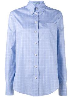 рубашка на пуговицах в клетку  Prada