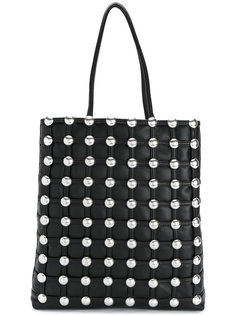 сетчатая сумка-шоппер с закругленными заклепками Alexander Wang