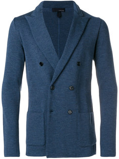 трикотажный двубортный пиджак Lardini