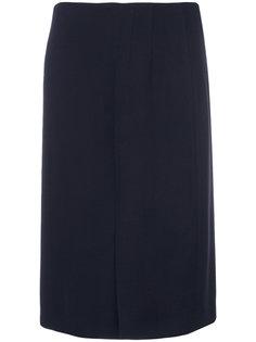 юбка с декоративными складками Salvatore Ferragamo