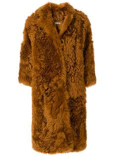 пальто свободного кроя из овчины Desa 1972