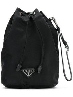 сумка-тоут с ремешком на запястье  Prada