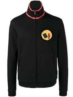 спортивная куртка с логотипом из овчины Fendi