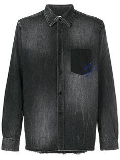 рубашка с вышивкой shadow pocket Saint Laurent