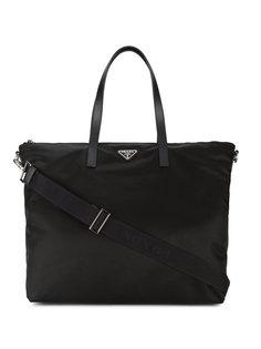 сумка-тоут с кожаными ручками Prada