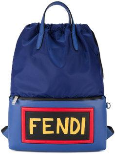 рюкзак с кожаным логотипом Fendi