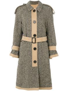 твидовое пальто-тренч  Burberry