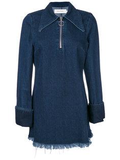 джинсовое платье с воротником на молнии Marquesalmeida Marquesalmeida