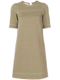 платье-шифт с узором Marni