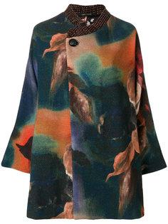 пальто с принтом с выцветшим эффектом Ermanno Gallamini