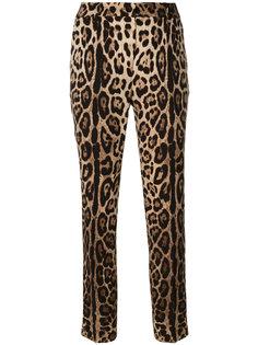 зауженные брюки с леопардовым принтом  Dolce & Gabbana