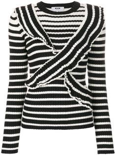 свитер в полоску MSGM