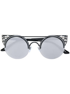 солнцезащитные очки круглой формы Bulgari