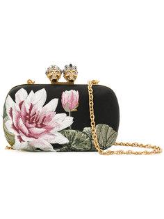 клатч с цветочным узором Alexander McQueen