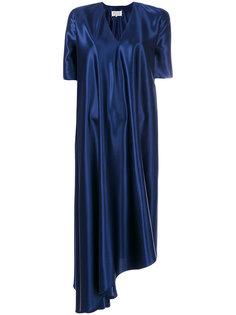 атласное асимметричное драпированное платье Maison Margiela