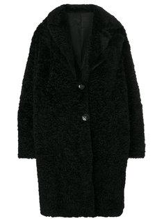 однобортное пальто Salvatore Santoro