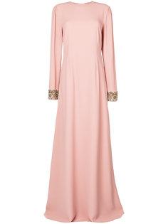 платье с вышивкой и открытой спиной  Rochas