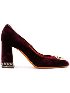 туфли-лодочки с заклепками Santoni