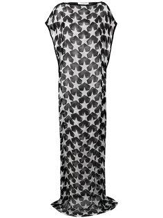 прозрачное платье со звездами Givenchy