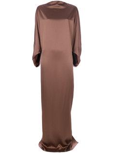 длинное сатиновое платье Chalayan