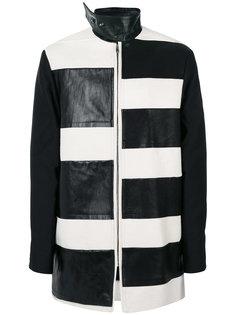 полосатое панельное пальто Rick Owens