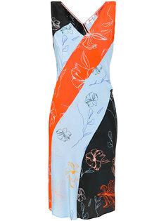 платье колор блок в диагональную полоску  Dvf Diane Von Furstenberg