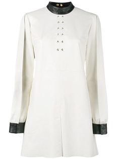платье с кожаной оторочкой June Skiim