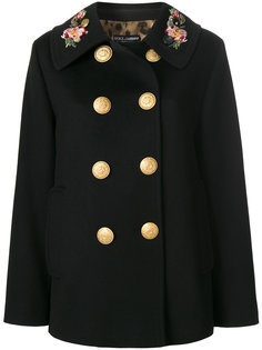 двубортное пальто милитари  Dolce & Gabbana