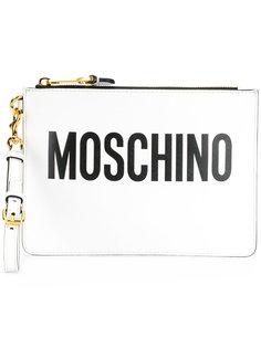 клатч с принтом логотипа Moschino