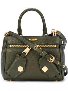 маленькая сумка на плечо с тисненым логотипом Moschino
