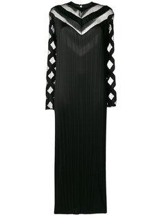 плиссированное платье с кружевными вставками Alexander Wang