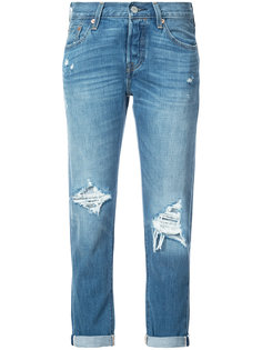 distressed straight jeans Levis